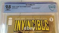 INVINCIBLE #1 CBCS NM+ 9.8 LIMITED EDITION LARRYS Low Print Run of 1000 HTF