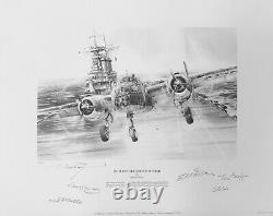 Into the Teeth of the Wind Pencil by Robert Taylor signed by 5 Doolittle Raiders