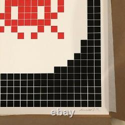 Invader Alert RED 2020 Last in the Edition Signed Print from MGLC