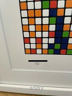 Invader Print Rubik OhAlright 2011 Framed with Museum Glass Urban Art
