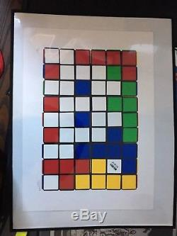 Invader Six Cubes Signed Numbered Screenprint Edition Of 20