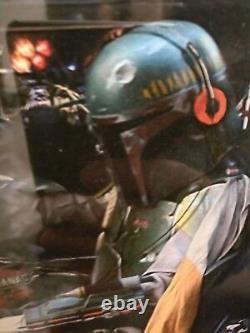 JJ ADAMS Framed'Time Traveller' Boba Fett in a DeLorean with COA (Never Hung)