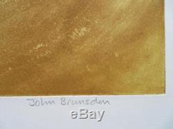 JOHN BRUNSDON (1933-2014) Limited Edition Welsh Etching FISHGUARD PEMBROKESHIRE