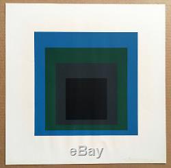 JOSEF ALBERS 1965 silkscreen print PORTA NEGRA Soft Edge-Hard Edge Portfolio