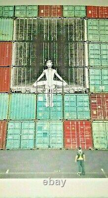 JR In the container wall, Le Havre, France, 2014 NOT Banksy, Invader, Kaws