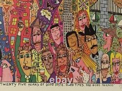 James Rizzi original Werk 25 YEARS OF GOOD TASTE, handsigniert, gerahmt, CoA