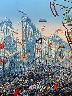 Jeff Gillette Split Mickey Mouse Ferris Wheel Art Print Signed Disney Dismaland