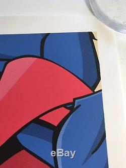 Jerkface Superjerk Superman Print Poster Kaws Banksy Shepard Fairey Obey Gondek