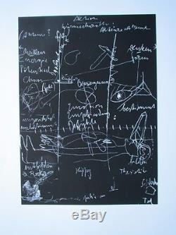 Joseph Beuys, Tafel III, Siebdruck, handsigniert