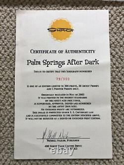 Josh Agle SHAG Palm Springs After Dark Print with COA Mid Century Modern MCM