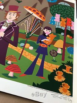 Josh Agle SHAG WILLY WONKA & Chocolate Factory RARE print ART #/100 Gene Wilder