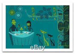Josh Shag Agle Cat Serenade tiki art print poster serigraph