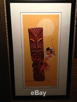 Josh Shag Agle Moonlight Hula art print poster serigraph #3