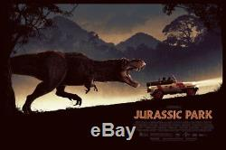 Jurassic Park Mondo Poster Art Screen Print Matt Ferguson PCC Limited Bottleneck
