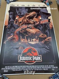 Jurassic Park Screen Print Poster #41/325 By John Guydo NYCC Mondo Artist