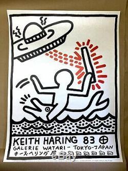 KEITH HARING Galerie Watari 1983 Exhibition Print Original Poster + COA #/1000