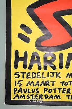 KEITH HARING StedelijkMuseum Amsterdam 1986 original exhibition poster VERY RARE