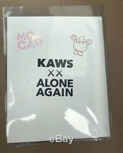 Kaws XX Alone Again MOCAD Print Poster Cutout Signed Stamped BFF Blame Game