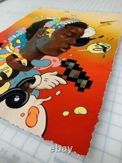 Kayla Mahaffey Unwind Art Print Hebru Brantley Kaws Takashi Murakami jerkface