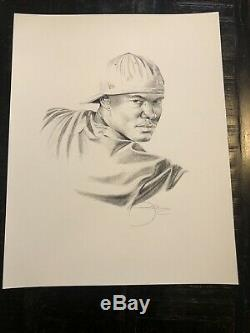 Kehinde Wiley Rare! Signed In Pencil Obama Portrait Artist