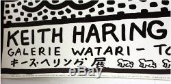 Keith Haring Original Galerie Watari Exhibition Poster, 1983