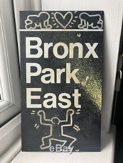 Keith Haring Original Subway Metro Sign Bronx East Radiant Baby 1980s