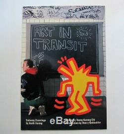 Keith Haring Signed Book Cover Illustration Art In Transit