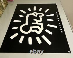Keith haring Radiant Baby 1993. Genuine Poster + Banksy Hirst Kaws Whatson Pic