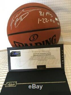 Kobe Bryant Hand Print Autographed Basketball 81Pts 11/81 Limited Edition