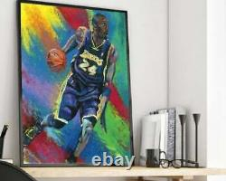 Kobe Bryant LA Lakers Artist Signed 30 x 40 Canvas Giclée Painting