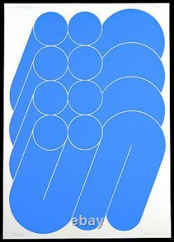 Konkrete Kunst, 1968. Serigraphie Friedrich GRÄSEL (1927-2013 D) handsigniert