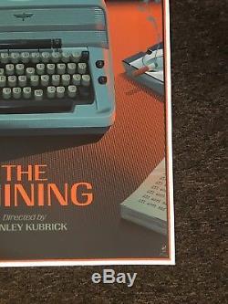Laurent Durieux Shining Typewriter Regular Screen Print Signed Kubrick Mondo