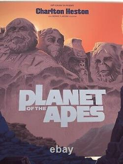 Laurent Durieux Signed Planet of the Apes Signed Mondo Movie Print Poster Jaws