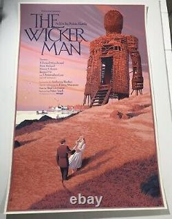 Laurent Durieux The Wicker Man Mondo Movie Print Poster Jaws Halloween Midsommar