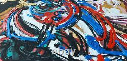 Leon Löwentraut Kapitalanlage Naomi sehr farbintensiv und gesucht ausverkauft