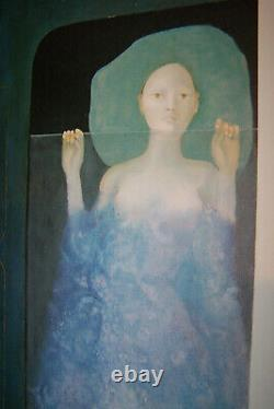 Leonor Fini Nacht Expreß Schuler Kunstdruck art print antik vintage surreal