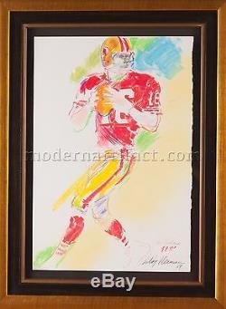 Leroy Neiman Original Pastel Painting Joe Montana Superbowl 1989 Original COA