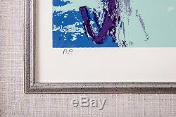 Leroy Neiman Trotters Horse Racing Limited Edition Signed Painting Serigraph