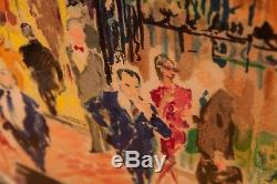 Leroy Neiman famous serigraph The Club 21 Limited Edition Painting Mint Conditio