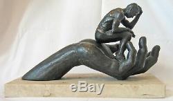 Lorenzo Quinn'Hand of God' bronze resin sculpture