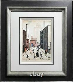 Ls Lowry Artist Signed Limited Ltd Edition Print'industrial Scene' In Stock