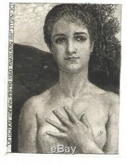 MAX KLINGER Die Quelle nach Böcklin. Original-Radierung, 1896. Singer 325