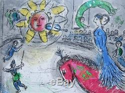 Marc Chagall, Sonne mit rotem Pferd, Farblithographie, 1979