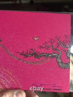 Marq Spusta Spring Swing Small Edition Mini Art Print Poster Ruby Magenta Paper