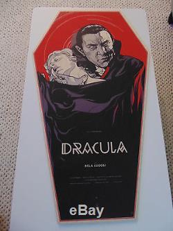 Martin Ansin Dracula Lugosi Mondo Art Poster Print WOOD COFFIN VARIANT Batman