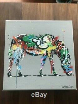 Martin Whatson Art Poster Zebra CANVAS Tiger Banksy Brainwash Space Invader