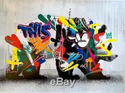 Martin Whatson PANDA Signed Art Print #/250 Graffiti Prints tiger passe cycle