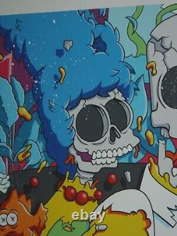 Matt Gondek HAND EMBELLISHED Nuclear Family The Simpsons art print Pez Jerkface
