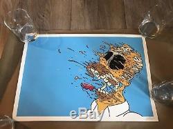 Matt Gondek Homer Screen Print Signed Like Invader kaws Supreme Mouse Friends