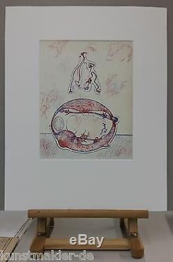 Max ERNST (1891-1976) Original Lithographie 1971 (#202) Après moi, le XXe siècle